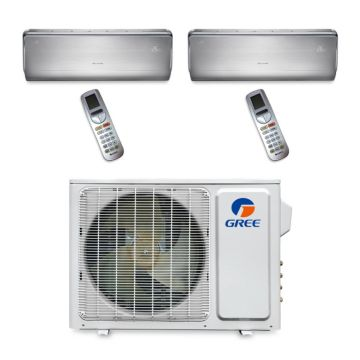 Gree MULTI18BCROWN200 - 18,000 BTU Multi21 Dual-Zone Wall Mounted Mini Split Air Conditioner with Heat Pump 220V (9-9)