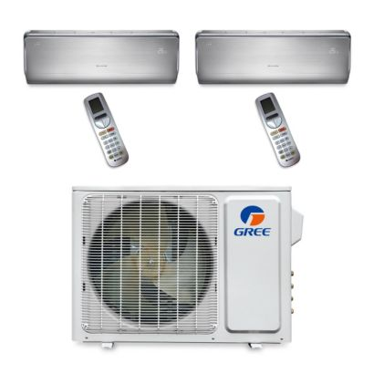 Gree MULTI18BCROWN201 - 18,000 BTU Multi21 Dual-Zone Wall Mount Mini Split Air Conditioner Heat Pump 208-230V (9-12)