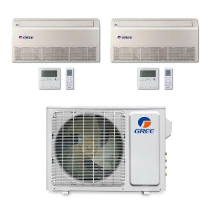 Gree MULTI18BFLR201 - 18,000 BTU Multi21 Dual-Zone Floor/Ceiling Mini Split Air Conditioner Heat Pump 208-230V (9-12)