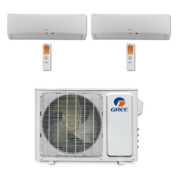 Gree MULTI18BTERRA200 - 18,000 BTU Multi21 Dual-Zone Wall Mount Mini Split Air Conditioner Heat Pump 208-230V (9-9)