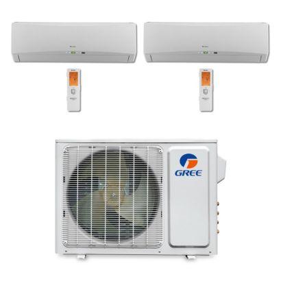 Gree MULTI18BTERRA200 - 18,000 BTU Multi21 Dual-Zone Wall Mount Mini Split Air Conditioner Heat Pump 208-230V (9-9)