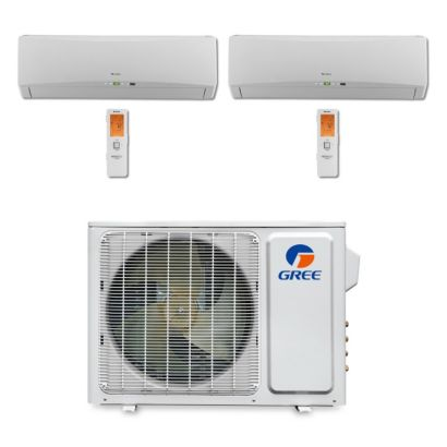 Gree MULTI18BTERRA201 - 18,000 BTU Multi21 Dual-Zone Wall Mount Mini Split Air Conditioner Heat Pump 208-230V (9-12)