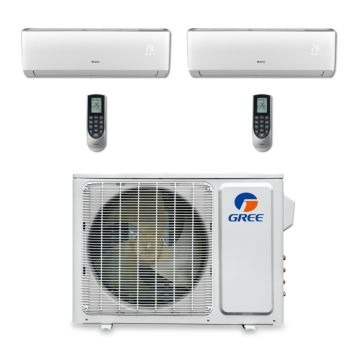Gree MULTI18BVIR200 - 18,000 BTU Multi21 Dual-Zone Wall Mount Mini Split Air Conditioner Heat Pump 208-230V (9-9)