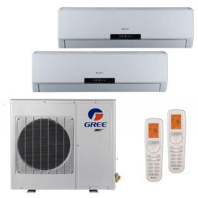 Gree MULTI18BNEO201   18,000 BTU +Multi Dual Zone Wall Mount Mini Split Air  Conditioner Heat Pump 208 230V (9 12)