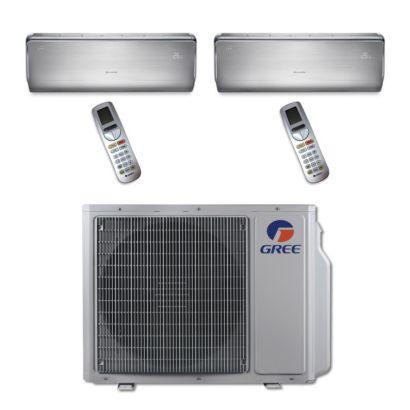 Gree MULTI24BCROWN200 - 24,000 BTU Multi21 Dual-Zone Wall Mount Mini Split Air Conditioner Heat Pump 208-230V (9-9)