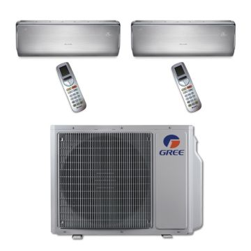 Gree MULTI24BCROWN205 - 24,000 BTU Multi21 Dual-Zone Wall Mounted Mini Split Air Conditioner with Heat Pump 220V (18-18)