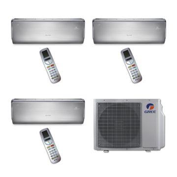 Gree MULTI24BCROWN300 - 24,000 BTU Multi21 Tri-Zone Wall Mounted Mini Split Air Conditioner with Heat Pump 220V (9-9-9)