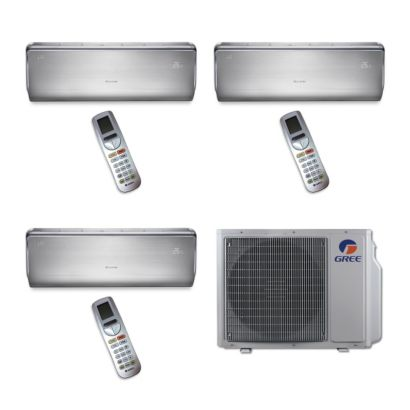 Gree MULTI24BCROWN303 - 24,000 BTU Multi21 Tri-Zone Wall Mount Mini Split Air Conditioner Heat Pump 208-230V (9-12-12)