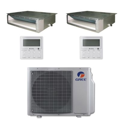 Gree MULTI24BDUCT200 - 24,000 BTU Multi21 Dual-Zone Concealed Duct Mini Split Air Conditioner Heat Pump 208-230V (9-9)