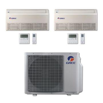 Gree MULTI24BFLR200 - 24,000 BTU Multi21 Dual-Zone Floor/Ceiling Mini Split Air Conditioner Heat Pump 208-230V (9-9)