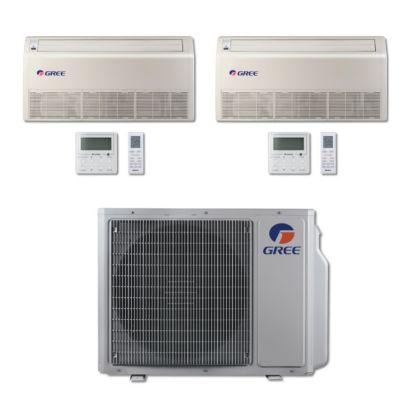 Gree MULTI24BFLR205 - 24,000 BTU Multi21 Dual-Zone Floor/Ceiling Mini Split Air Conditioner Heat Pump 208-230V (18-18)
