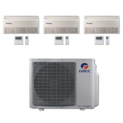 Gree MULTI24BFLR301 - 24,000 BTU Multi21 Tri-Zone Floor/Ceiling Mini Split Air Conditioner Heat Pump 208-230V (9-9-12)