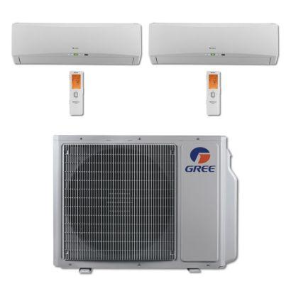 Gree MULTI24BTERRA205 - 24,000 BTU Multi21 Dual-Zone Wall Mount Mini Split Air Conditioner Heat Pump 208-230V (18-18)