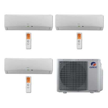 Gree MULTI24BTERRA300 - 24,000 BTU Multi21 Tri-Zone Wall Mount Mini Split Air Conditioner Heat Pump 208-230V (9-9-9)