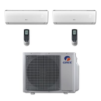 Gree MULTI24BVIR200 - 24,000 BTU Multi21 Dual-Zone Wall Mount Mini Split Air Conditioner Heat Pump 208-230V (9-9)