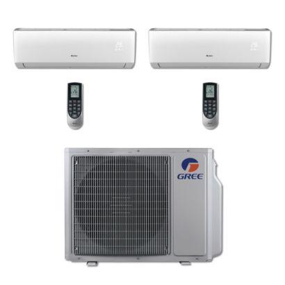 Gree MULTI24BVIR200 - 24,000 BTU Multi21 Dual-Zone Wall Mount Mini Split Air Conditioner Heat Pump 208-230V (9-9)