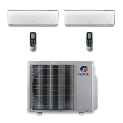 Gree MULTI24BVIR202 - 24,000 BTU Multi21 Dual-Zone Wall Mount Mini Split Air Conditioner Heat Pump 208-230V (9-18)