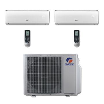 Gree MULTI24BVIR204 - 24,000 BTU Multi21 Dual-Zone Wall Mounted Mini Split Air Conditioner with Heat Pump 220V (12-18)