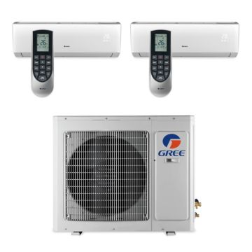 Gree MULTI24BVIR205 -  24,000 BTU Multi21 Dual-Zone Wall Mounted Mini Split Air Conditioner with Heat Pump 220V (18-18)