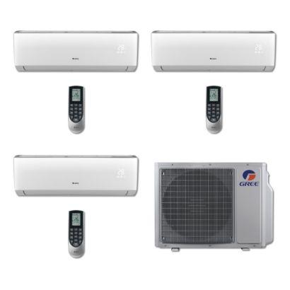 Gree MULTI24BVIR300 - 24,000 BTU Multi21 Tri-Zone Wall Mount Mini Split Air Conditioner Heat Pump 208-230V (9-9-9)