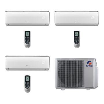 Gree MULTI24BVIR303 - 24,000 BTU Multi21 Tri-Zone Wall Mounted Mini Split Air Conditioner with Heat Pump 220V (9-12-12)
