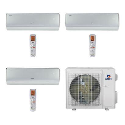 Gree MULTI24CCROWN302 - 24,000 BTU Multi21+ Tri-Zone Wall Mount Mini Split Air Conditioner Heat Pump 208-230V (9-9-18)