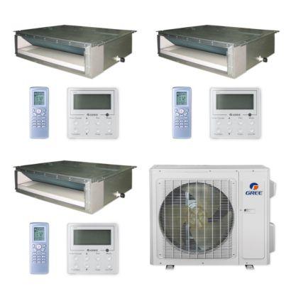 Gree MULTI24CDUCT303 - 24,000 BTU Multi21+ Tri-Zone Concealed Duct Mini Split Air Conditioner Heat Pump 208-230V (9-12-12)