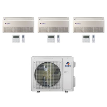 Gree MULTI24CFLR301 - 24,000 BTU Multi21+ Tri-Zone Floor/Ceiling Mini Split Air Conditioner Heat Pump 208-230V (9-9-12)