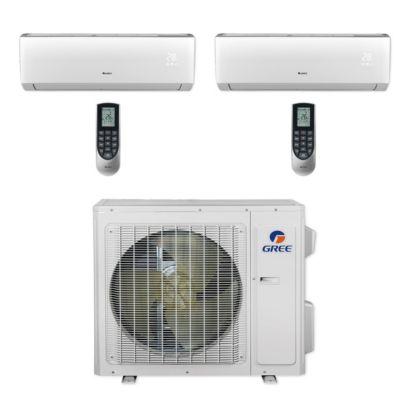 Gree MULTI24CLIV203 - 24,000 BTU Multi21+ Dual-Zone Wall Mount Mini Split Air Conditioner Heat Pump 208-230V (12-12)