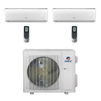 Gree MULTI24CVIR202 - 24,000 BTU Multi21+ Dual-Zone Wall Mount Mini Split Air Conditioner Heat Pump 208-230V (9-18)