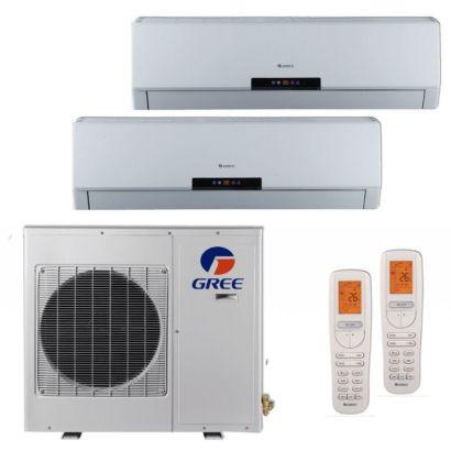Gree MULTI24BNEO201 - 24,000 BTU +Multi Dual-Zone Wall Mount Mini Split Air Conditioner Heat Pump 208-230V (9-12)