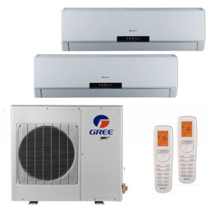 Gree MULTI24BNEO205 - 24,000 BTU +Multi Dual-Zone Wall Mount Mini Split Air Conditioner Heat Pump 208-230V (18-18)