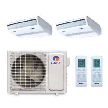 Gree MULTI24BCONS203 - 24,000 BTU +Multi Dual-Zone Floor Console Mini Split Air Conditioner Heat Pump 208-230V (12-12)