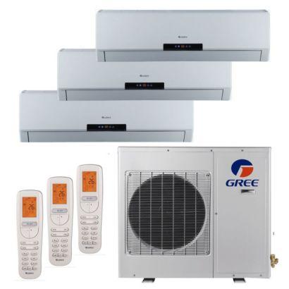 Gree MULTI24BNEO304 - 24,000 BTU +Multi Tri-Zone Wall Mount Mini Split Air Conditioner Heat Pump 208-230V (12-12-12)