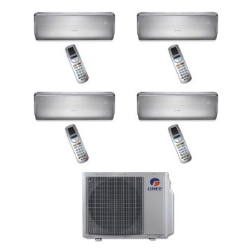 Gree MULTI30BCROWN400 - 30,000 BTU Multi21 Quad-Zone Wall Mounted Mini Split Air Conditioner with Heat Pump 220V (9-9-9-9)
