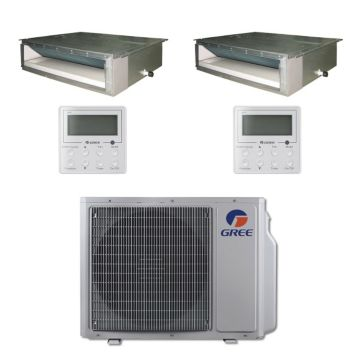 Gree MULTI30BDUCT200 - 30,000 BTU Multi21 Dual-Zone Concealed Duct Mini Split Air Conditioner with Heat Pump 220V (9-9)