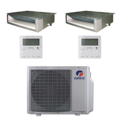 Gree MULTI30BDUCT204 - 30,000 BTU Multi21 Dual-Zone Concealed Duct Mini Split Air Conditioner Heat Pump 208-230V (12-12)