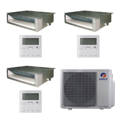 Gree MULTI30BDUCT301 - 30,000 BTU Multi21 Tri-Zone Concealed Duct Mini Split Air Conditioner Heat Pump 208-230V (9-9-12)