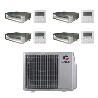 Gree MULTI30BDUCT400 - 30,000 BTU Multi21 Quad-Zone Concealed Duct Mini Split Air Conditioner Heat Pump 208-230V (9-9-9-9)