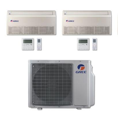 Gree MULTI30BFLR204 - 30,000 BTU Multi21 Dual-Zone Floor/Ceiling Mini Split Air Conditioner Heat Pump 208-230V (12-12)