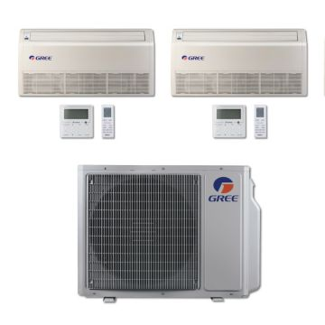 Gree MULTI30BFLR207 - 30,000 BTU Multi21 Dual-Zone Floor/Ceiling Mini Split Air Conditioner with Heat Pump 220V (18-18)