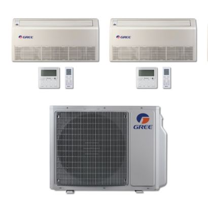 Gree MULTI30BFLR207 - 30,000 BTU Multi21 Dual-Zone Floor/Ceiling Mini Split Air Conditioner Heat Pump 208-230V (18-18)