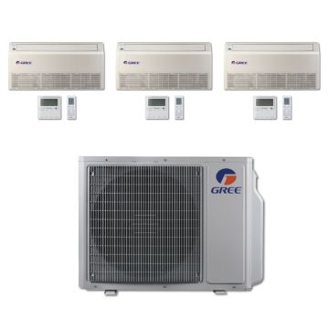 Gree MULTI30BFLR300 - 30,000 BTU Multi21 Tri-Zone Floor/Ceiling Mini Split Air Conditioner with Heat Pump 220V (9-9-9)