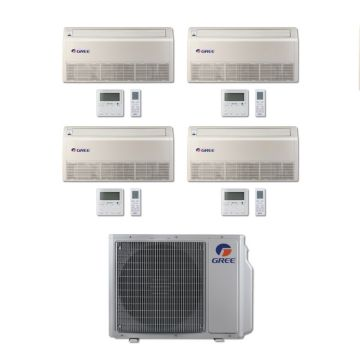 Gree MULTI30BFLR401 - 30,000 BTU Multi21 Quad-Zone Floor/Ceiling Mini Split Air Conditioner with Heat Pump 220V (9-9-9-12)