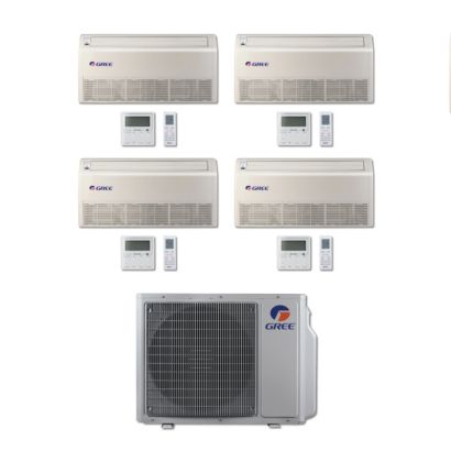 Gree MULTI30BFLR401 - 30,000 BTU Multi21 Quad-Zone Floor/Ceiling Mini Split Air Conditioner Heat Pump 208-230V (9-9-9-12)