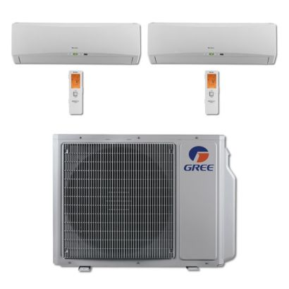 Gree MULTI30BTERRA207 - 30,000 BTU Multi21 Dual-Zone Wall Mount Mini Split Air Conditioner Heat Pump 208-230V (18-18)