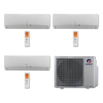 Gree MULTI30BTERRA307 - 30,000 BTU Multi21 Tri-Zone Wall Mount Mini Split Air Conditioner Heat Pump 208-230V (12-12-18)