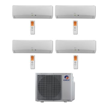 Gree MULTI30BTERRA401 - 30,000 BTU Multi21 Quad-Zone Wall Mount Mini Split Air Conditioner Heat Pump 208-230V (9-9-9-12)