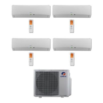 Gree MULTI30BTERRA401 - 30,000 BTU Multi21 Quad-Zone Wall Mount Mini Split Air Conditioner Heat Pump 208-230V (9-9-9-12)