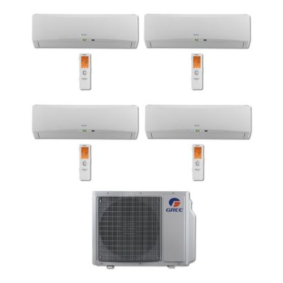 Gree MULTI30BTERRA402 - 30,000 BTU Multi21 Quad-Zone Wall Mount Mini Split Air Conditioner Heat Pump 208-230V (9-9-12-12)